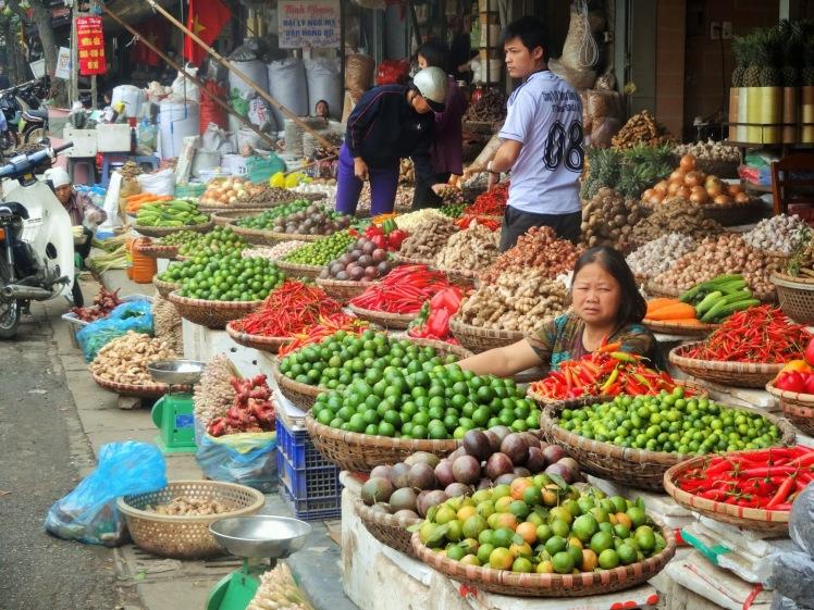 Hanoi street market