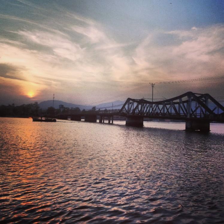 The bridge in Kampot