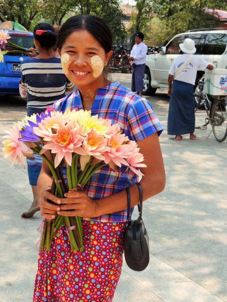 Lady with decorative Thanaka