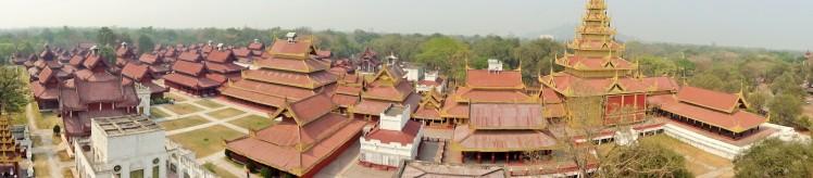 Panoramic of Mandalay Palace